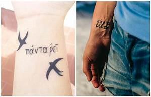 Tattoo Leben Und Tod : 40 vorschl ge f r kurze tattoo spr che auf latein und griechisch ~ Frokenaadalensverden.com Haus und Dekorationen