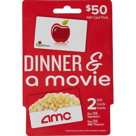 amc cuisine applebee 39 s amc theaters dinner a gift card pack
