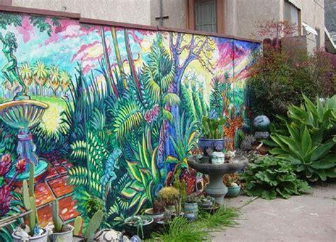 mural   fence good fencesgood neighbors garden