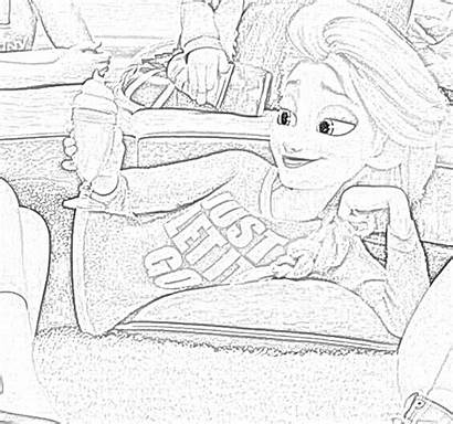 Ralph Breaks Internet Princesses Coloring Pages Disney
