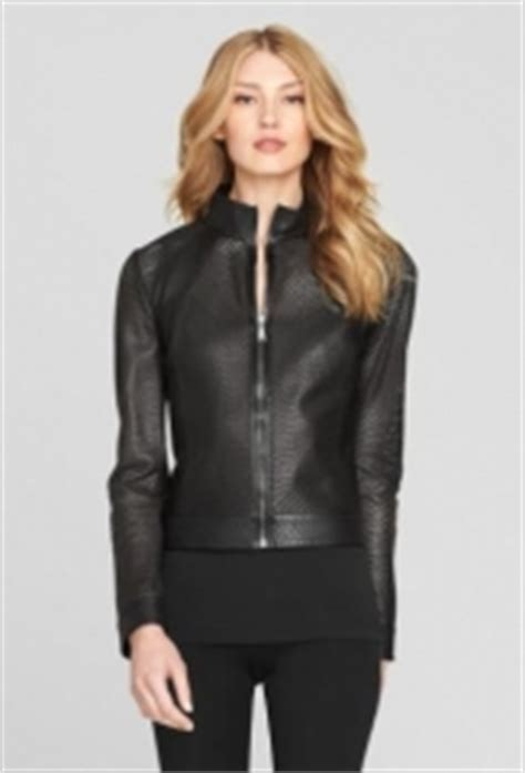 WornOnTV: Charlotte's black perforated jacket on Revenge ...