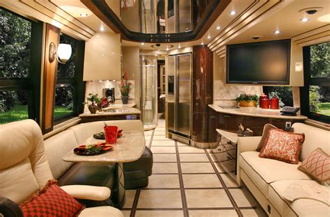 Top 28+  Rv Interior Design  40 Incredible Rv Interior. Brown Metal Roof. Adult Daybed. Petrified Wood End Table. Alligator Chair. Eucalyptus Flooring. Chandaleir. Tropical Wall Decor. Stone Flower Beds