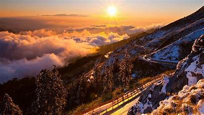 Sunrise Mountain Widescreen Wallpapers 4k Road Resolution