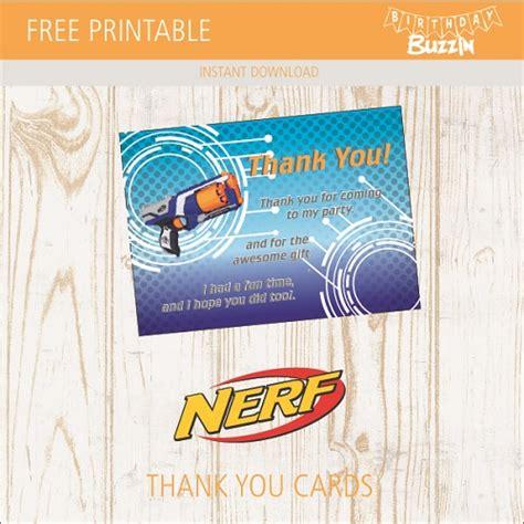 printable nerf   cards birthday buzzin