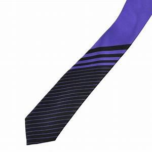 Purple & Black Striped Men's Skinny Tie from Ties Planet UK