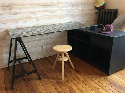 bureau d angle sur mesure bureau d 39 angle sur mesure valchromat noir
