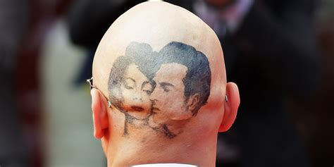 james franco sports shaved head elizabeth taylor tattoo