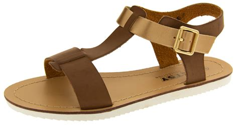 womens betsy gladiator sandals flat strappy summer shoes