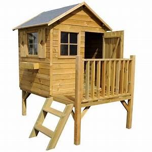Maisonnette En Bois Sur Pilotis : cabane en bois on pinterest pallet kids montages and ~ Dailycaller-alerts.com Idées de Décoration