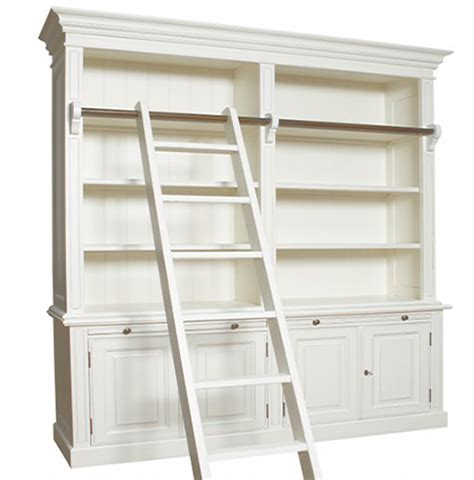 Home Dzine Home Diy  Diy Library Bookcase With Ladder