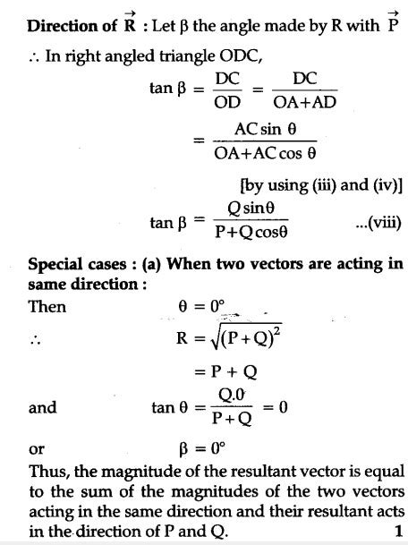 State and prove parallelogram law of vector addition
