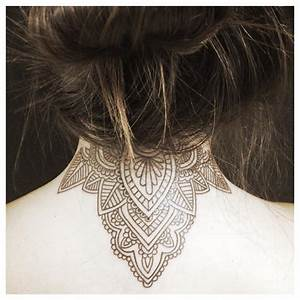 45  Back Of The Neck Tattoo Designs  U0026 Meanings