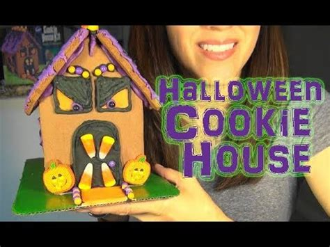 Asmr Decorating A Halloween Cookie House  Holiday Crafts  Haunted House Youtube