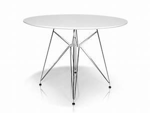 Tisch Rund 80 Cm Ausziehbar : rolly tisch rund 105 cm weiss ~ Frokenaadalensverden.com Haus und Dekorationen
