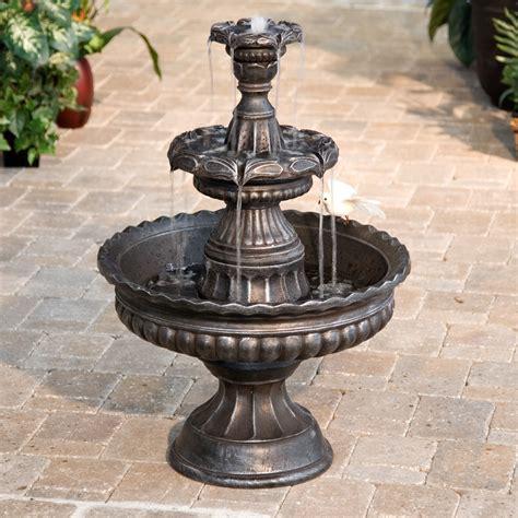garden classic  tier outdoor fountain fountains