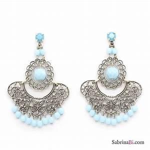 ethnic chandelier earrings with turquoise prosa bijoux With bijoux turquoise
