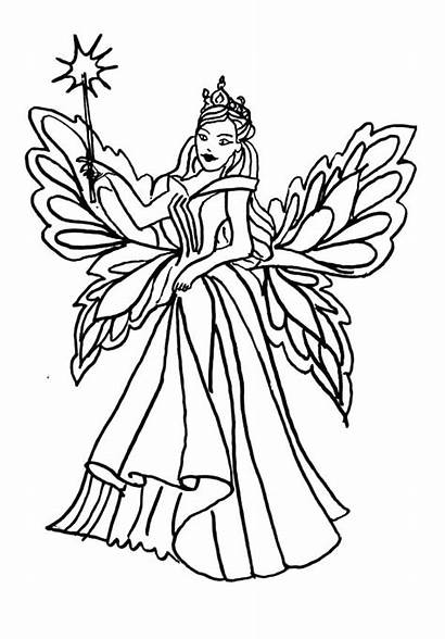 Coloring Fairy Queen Pages Realistic Cupcake Ballerina