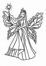 Coloring Fairy Queen Cupcake Realistic Colouring Printable Faerie Ballerina Getcolorings sketch template