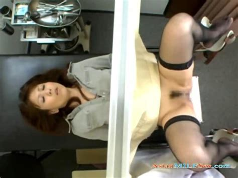 Asian Milf Fucked By 2 Gynecologist And Creampied On