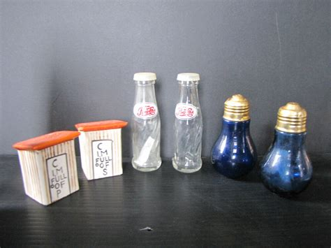 3 Vintage Sets Of Salt And Pepper Shakers (pepsi