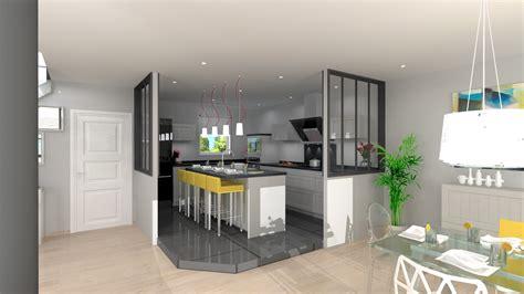 separation cuisine style atelier cuisine style atelier avec verrières monblogcuisine fr
