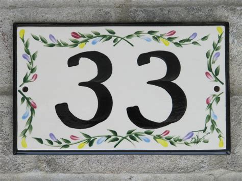 items similar to custom painted ceramic house number