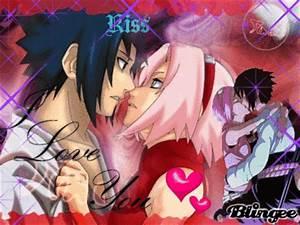 Sakura kiss Sasuke Picture #117808646 | Blingee.com