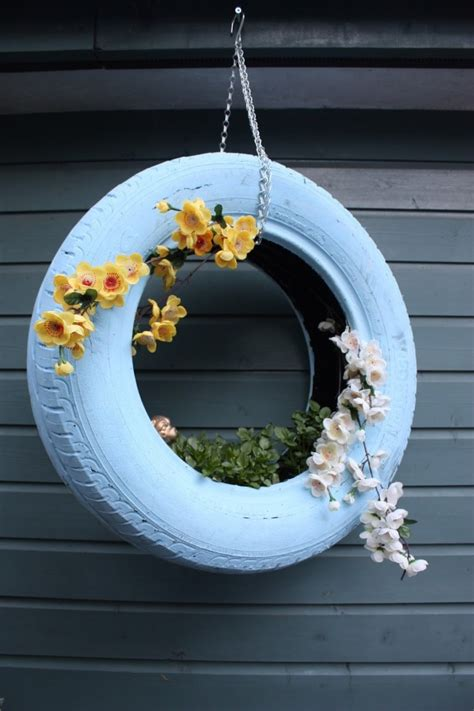 paint your tires to give your car a fashionable beautiful garden ideas how to flower pots from