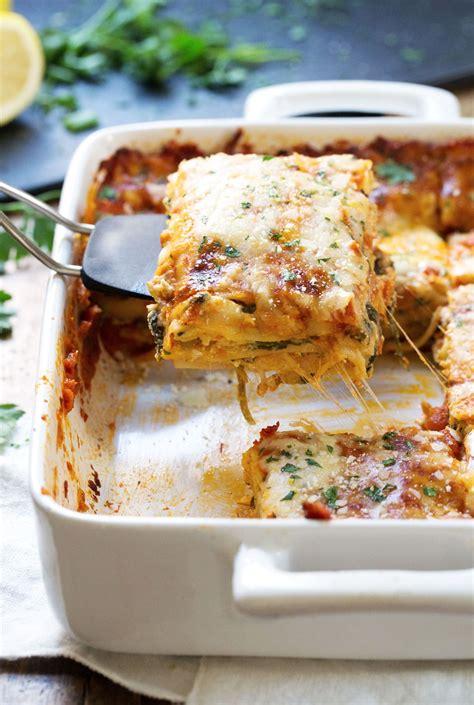 creamy tomato lasagna florentine recipe pinch  yum