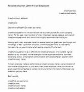 Recommendation Letter For An Employee Sample Just Letter 6 Sample Employer Recommendation Letter Free Sample How To Write Letter Of Recommendation Russianbridesglobal 4 Writing A Letter Of Recommendation For An Employee