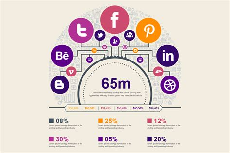 social media  marketing vector elements pack