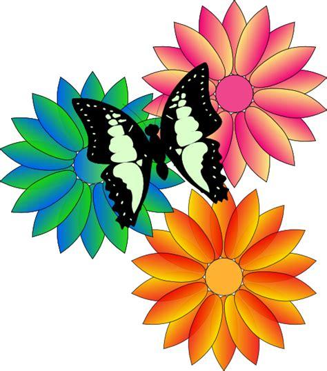 butterfly  flowers clip art  clkercom vector clip