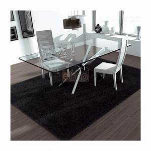 emejing table en verre salle a manger ideas amazing With table salle a manger moderne
