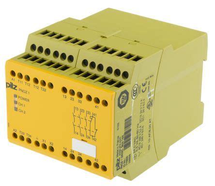 pnoz 1 24vac safety relay dual channel 24 v ac 3