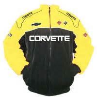 race car jackets corvette  racing jacket yellow  black