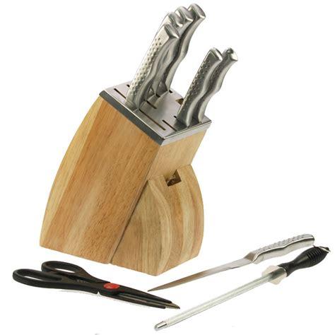 bloc couteau cuisine bloc couteaux de cuisine inox couteaux ciseaux et aiguiseur