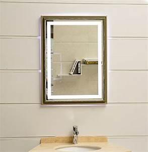 Badspiegel Mit Rahmen : design led beleuchtung wandspiegel gs099n lichtspiegel badspiegel flurspiegel garderobenspiegel ~ Frokenaadalensverden.com Haus und Dekorationen