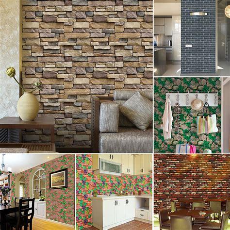 Brick 3d Wallpaper Sticker by 3d Wall Paper Brick Rustic Effect Self Adhesive Wall
