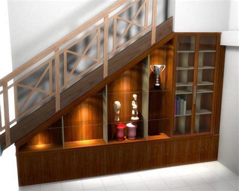 desain rumah minimalis interior design wood stairs