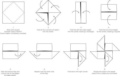 Pinwheel Napkin Fold Paper Napkin Folds Chinet®