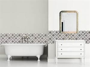 les carreaux de ciment adhesifs joli place With carrelage adhesif salle de bain avec cache pot led