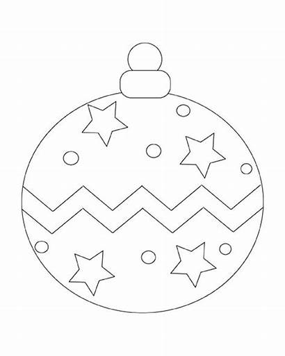 Christmas Ornaments Ornament Printable Coloring Pages Ball
