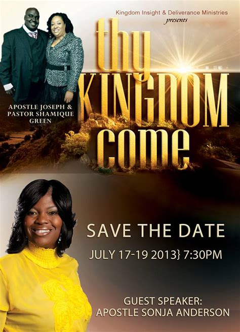 save  date flyer  thy kingdom  conference