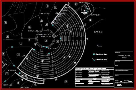 finishes plan amphitheatre dwg plan  autocad designs cad