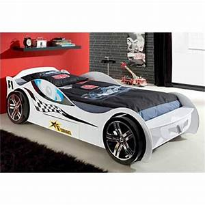Lit En Forme De Voiture : lit voiture de course enfant 1 tiroir vipack 3suisses ~ Teatrodelosmanantiales.com Idées de Décoration