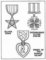 Medal Coloring Honor Veterans Purple Heart Drawing Celebrating Netart Pages Vector Getdrawings Writing sketch template