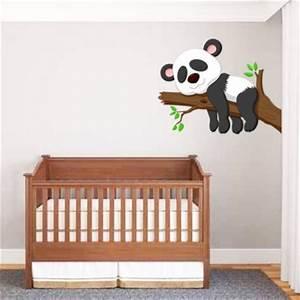 Autocollant Chambre Bébé : sticker b b panda un sticker pour d coration chambre b b ou enfant ~ Melissatoandfro.com Idées de Décoration