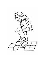 Hopscotch Coloring Pages Activities Ws sketch template