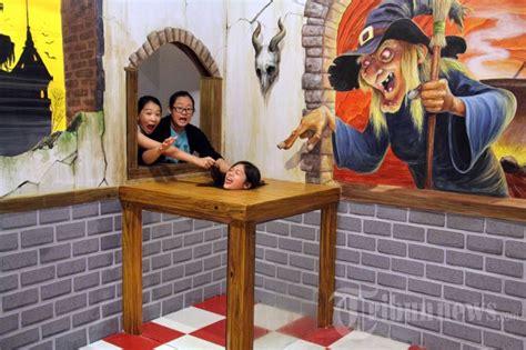 museum  trick art  bali foto   tribunnewscom
