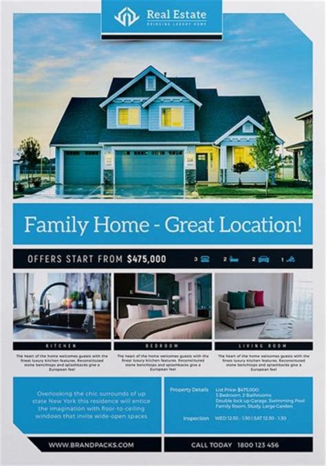 free real estate templates real estate free poster template psd poster and flyer templates